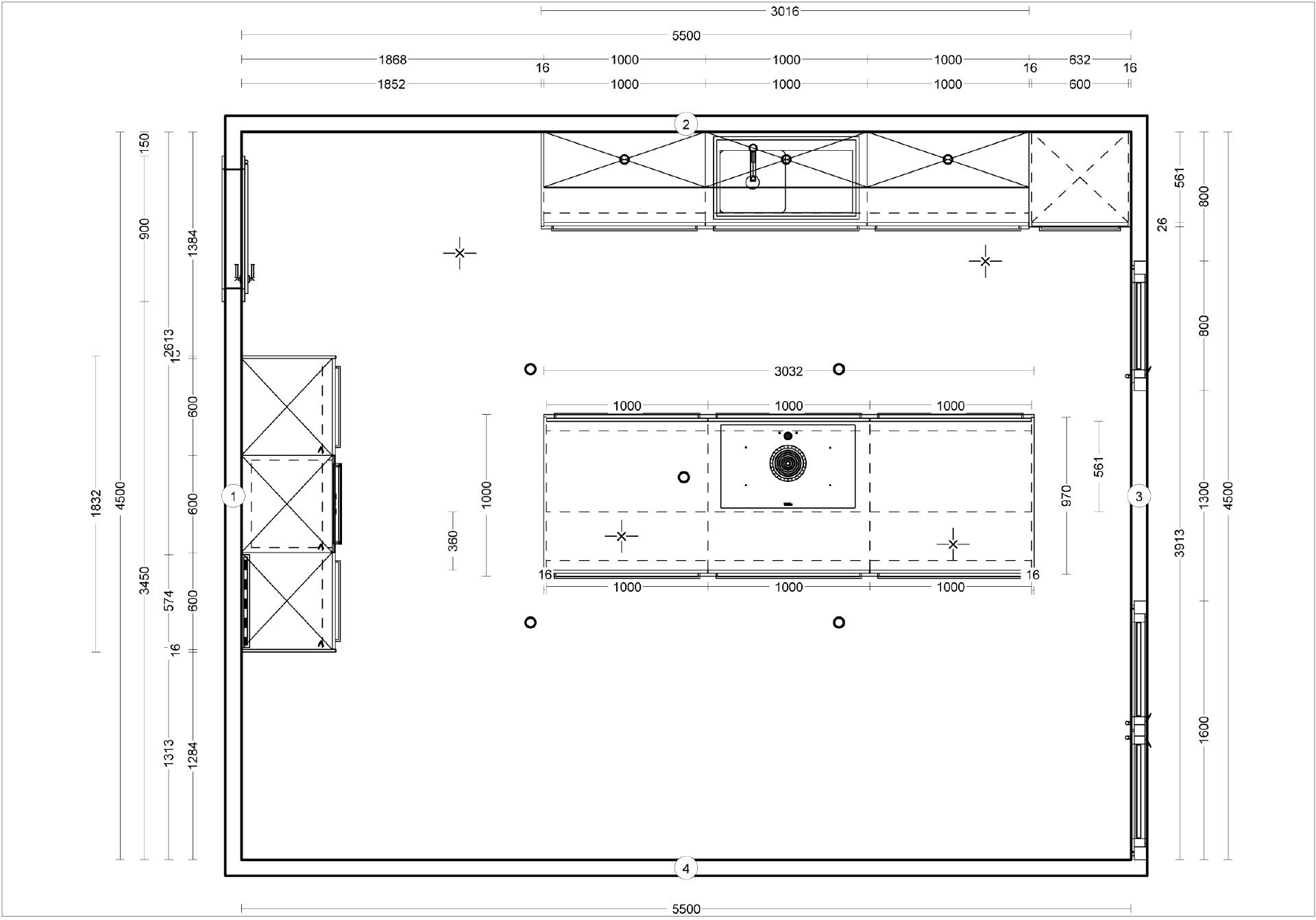 Küchenplanung grundriss  Küchenplanung vom Fachplaner